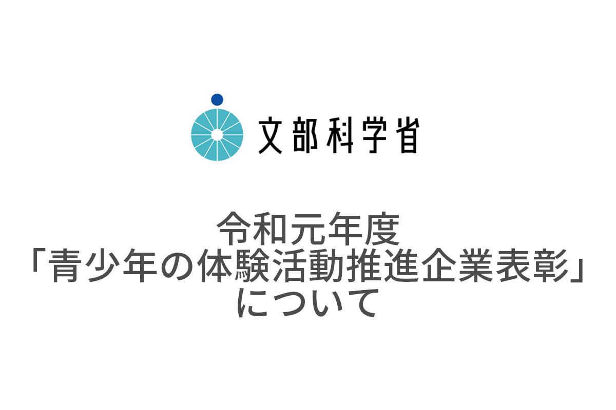 文部科学省主催 令和元年度「青少年の体験活動推進企業表彰」審査委員会優秀賞を受賞
