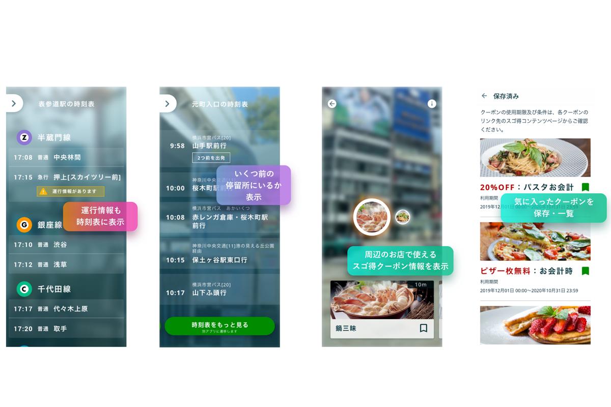 AR時刻表アプリ『NAVITIMEレンズ』を「スゴ得コンテンツ」で提供開始