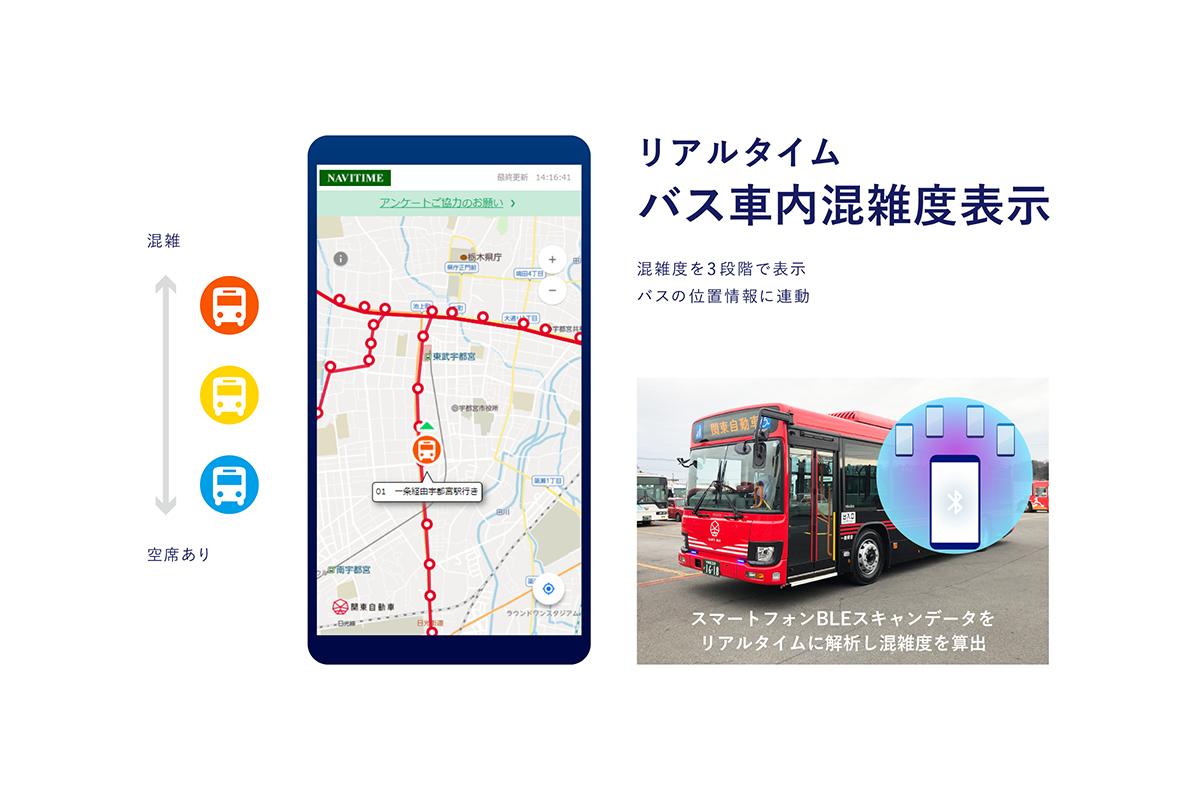 「バスのリアルタイム混雑度表示」の実証実験を開始
